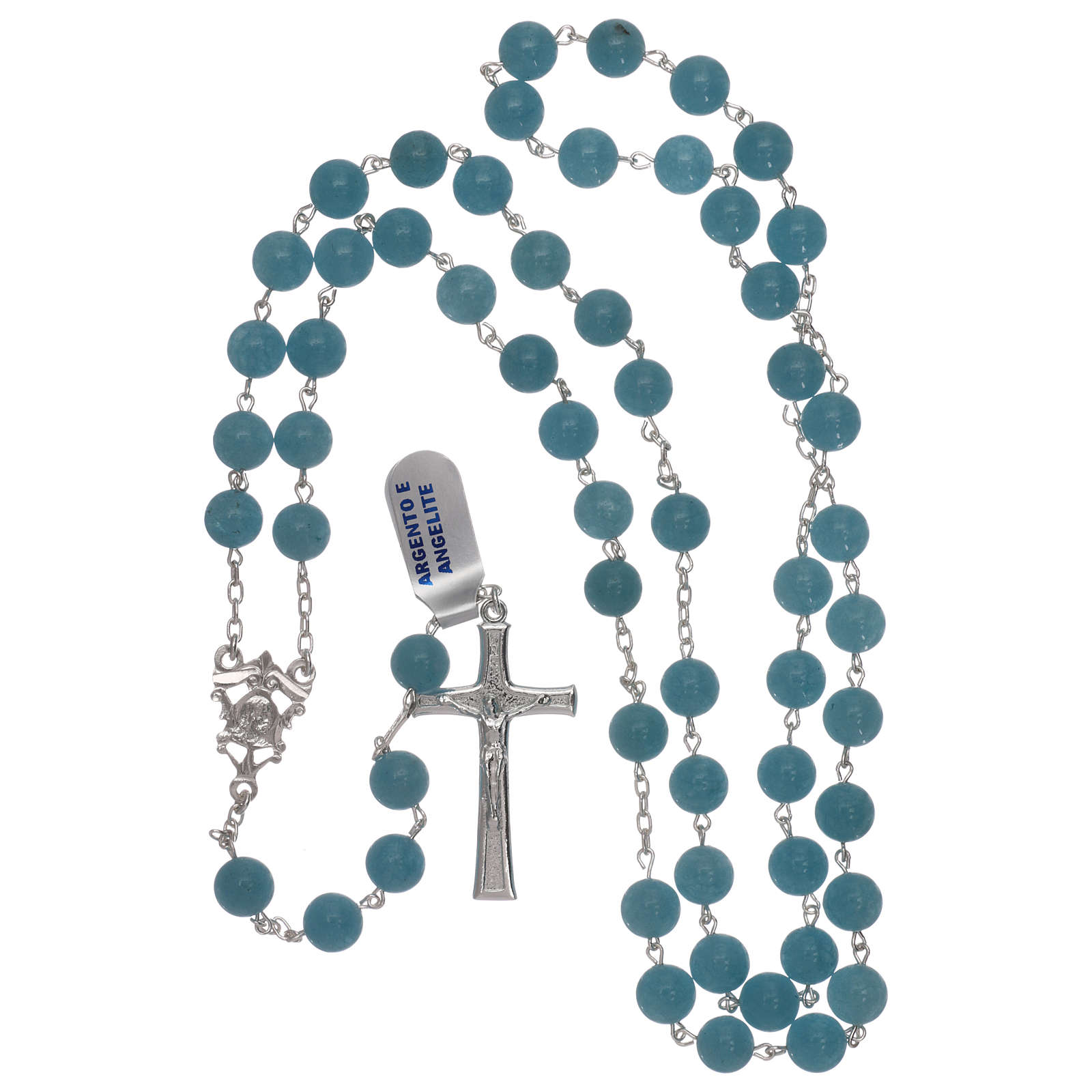 Rosario angelite e argento 925 4