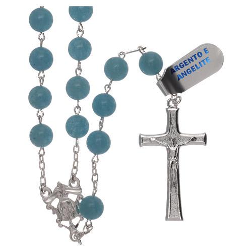 Rosario angelite e argento 925 1