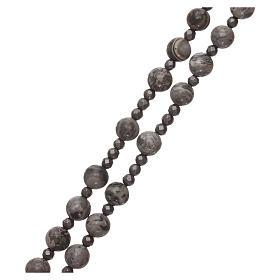 Rosario argento 925 e grani agata messicana con ematite s3