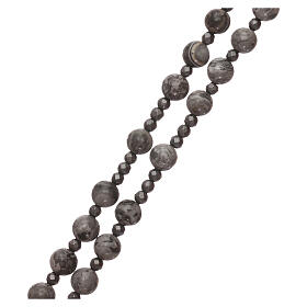 Rosary 925 silver and beads of mexican agate and hematite s3