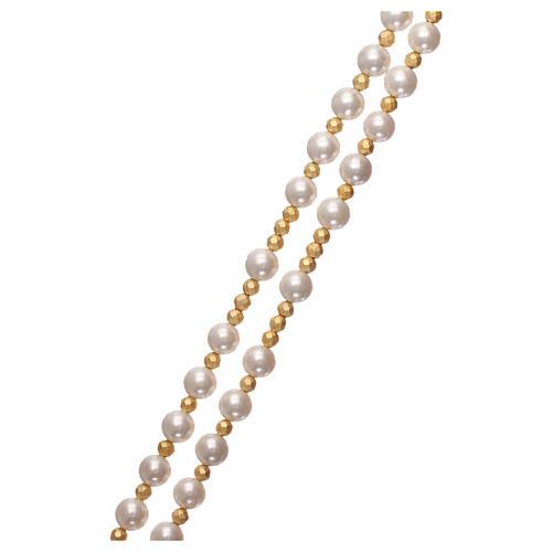 Rosario perle e argento 925 dorato con ematite 3
