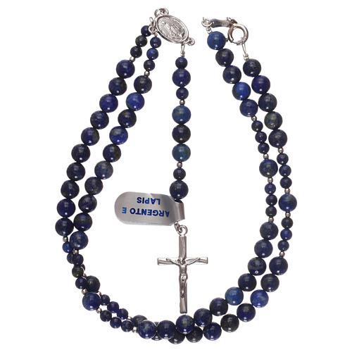 Chapelet argent 925 et grains lapis-lazuli 4