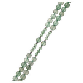 Rosario grani avventurina verde e argento 925 s3