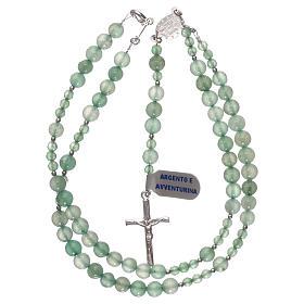 Rosario grani avventurina verde e argento 925 s4