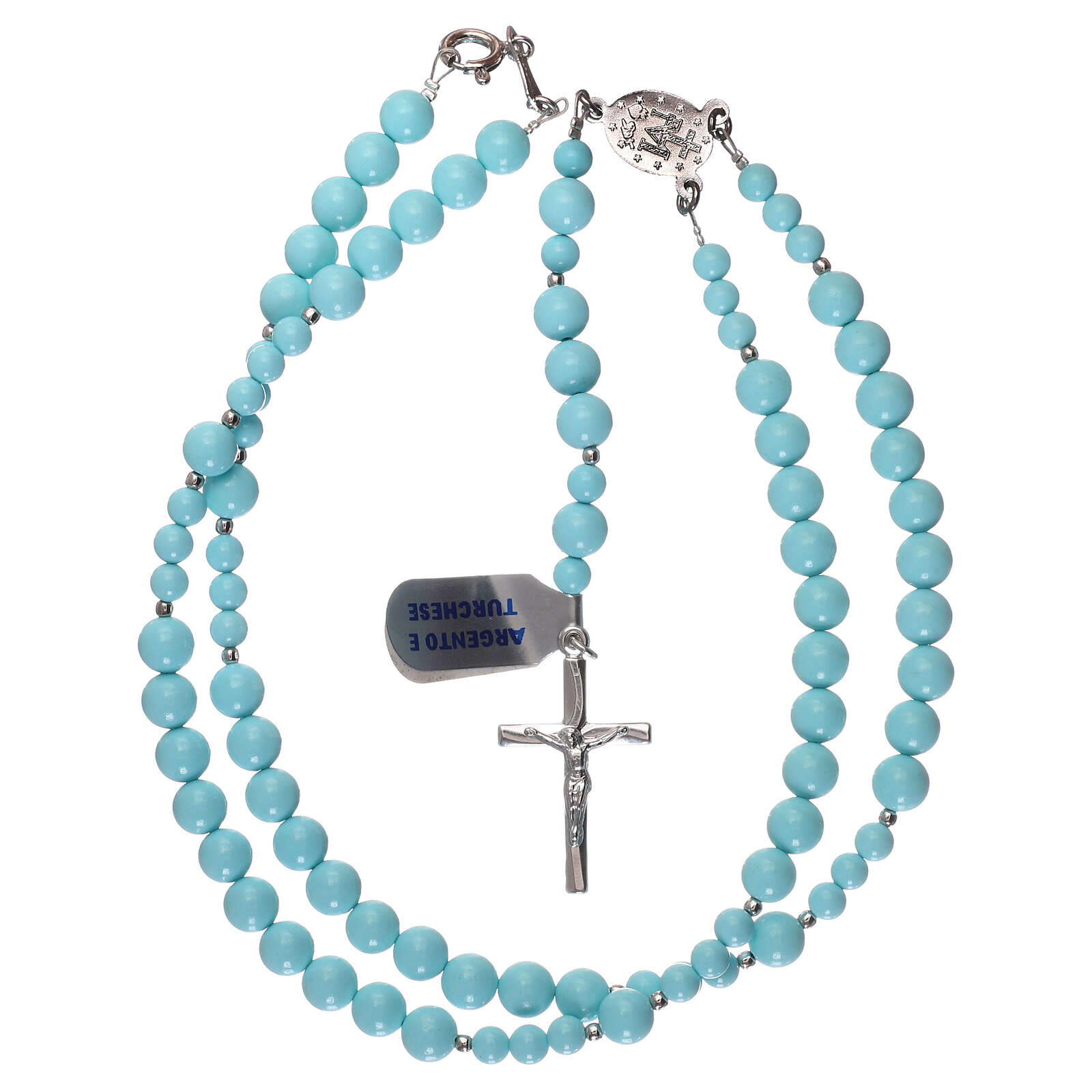 Rosary 925 silver and turquoise 4