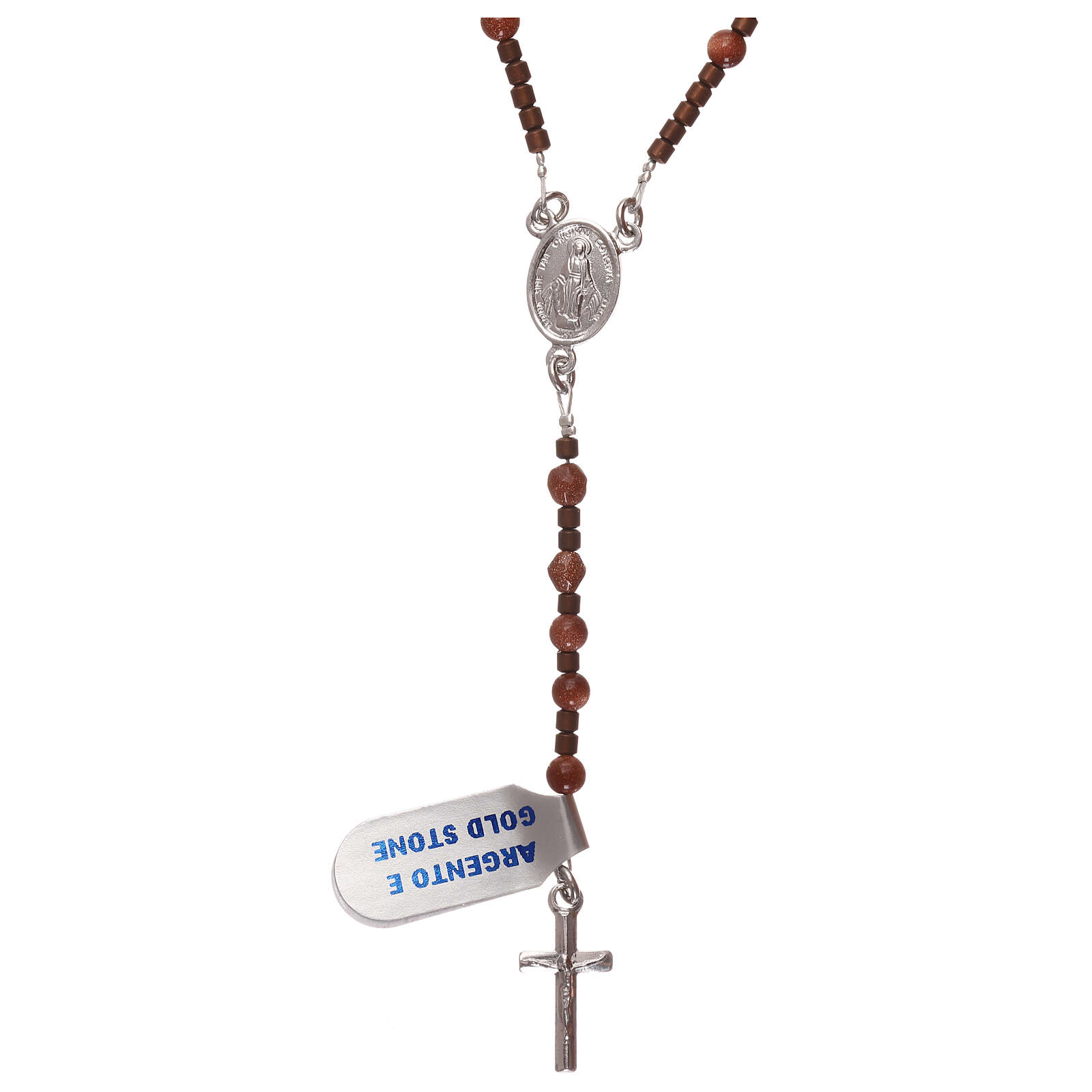 Rosary 925 silver with goldstone beads 4