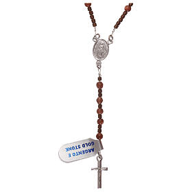Rosary 925 silver with goldstone beads s1