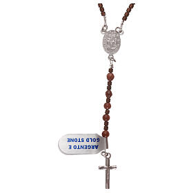 Rosary 925 silver with goldstone beads s2