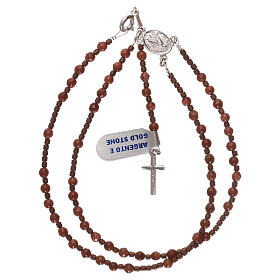Rosary 925 silver with goldstone beads s4