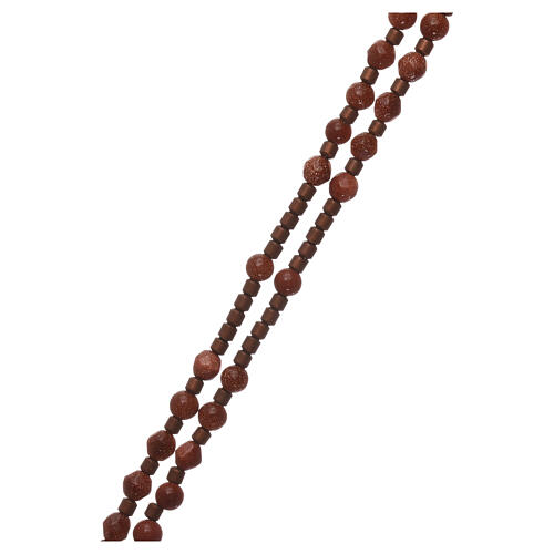 Rosary 925 silver with goldstone beads 3