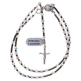 Rosary of 925 silver with white Swarovski beads s4
