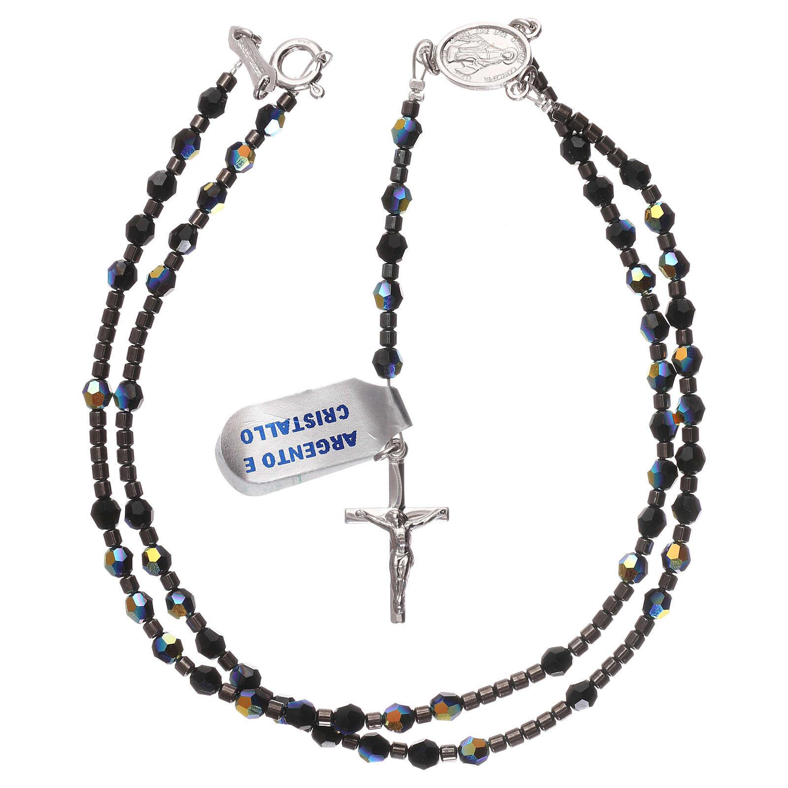 Rosary black Swarovski and 925 silver 4