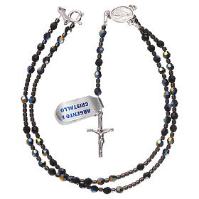 Rosary black Swarovski and 925 silver s4
