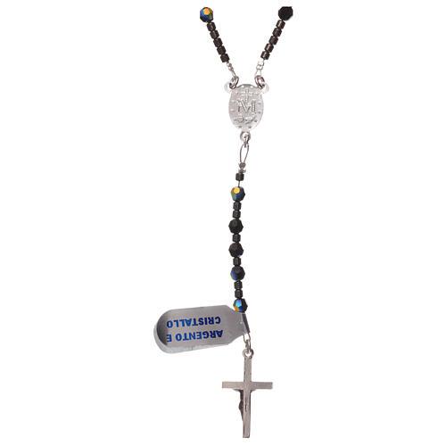 Rosary black Swarovski and 925 silver 2