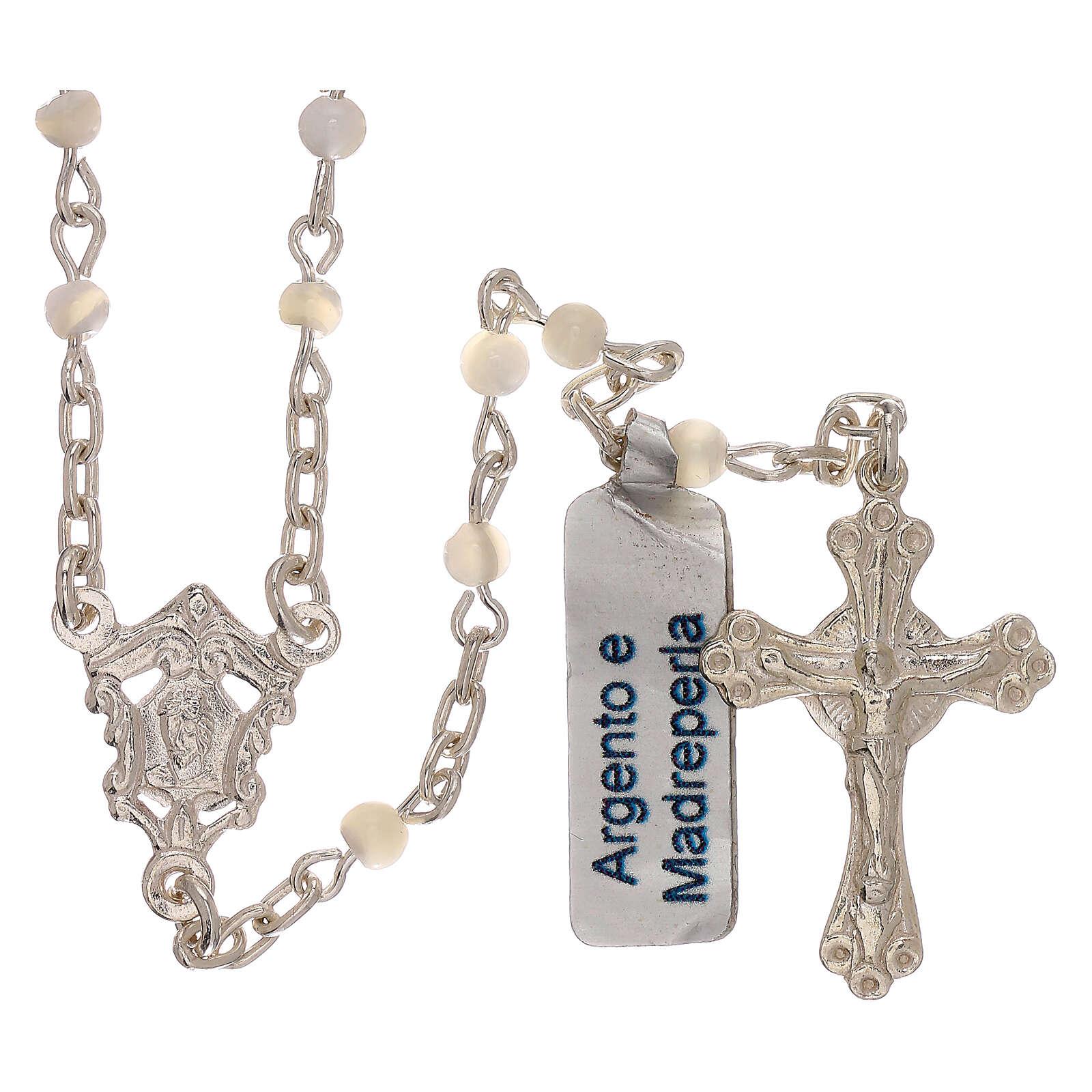 Collar rosario de plata 800 y nácar 4