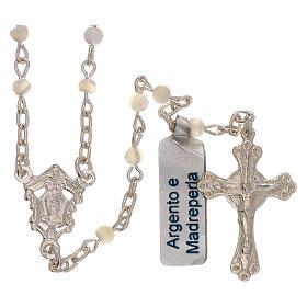Collar rosario de plata 800 y nácar s1