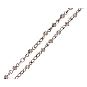 Rosary of 800 silver with smooth beads s3