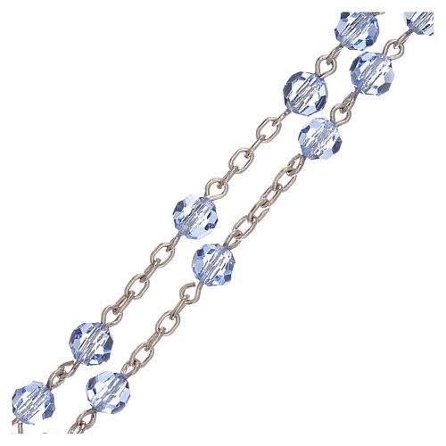 Rosario plata 800 y Swarovski azules 5 mm 3