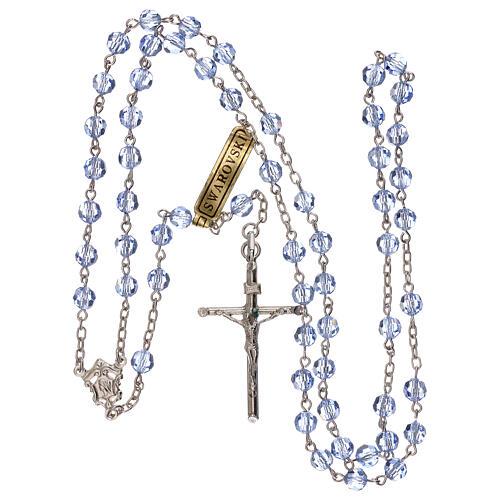 Rosario plata 800 y Swarovski azules 5 mm 4