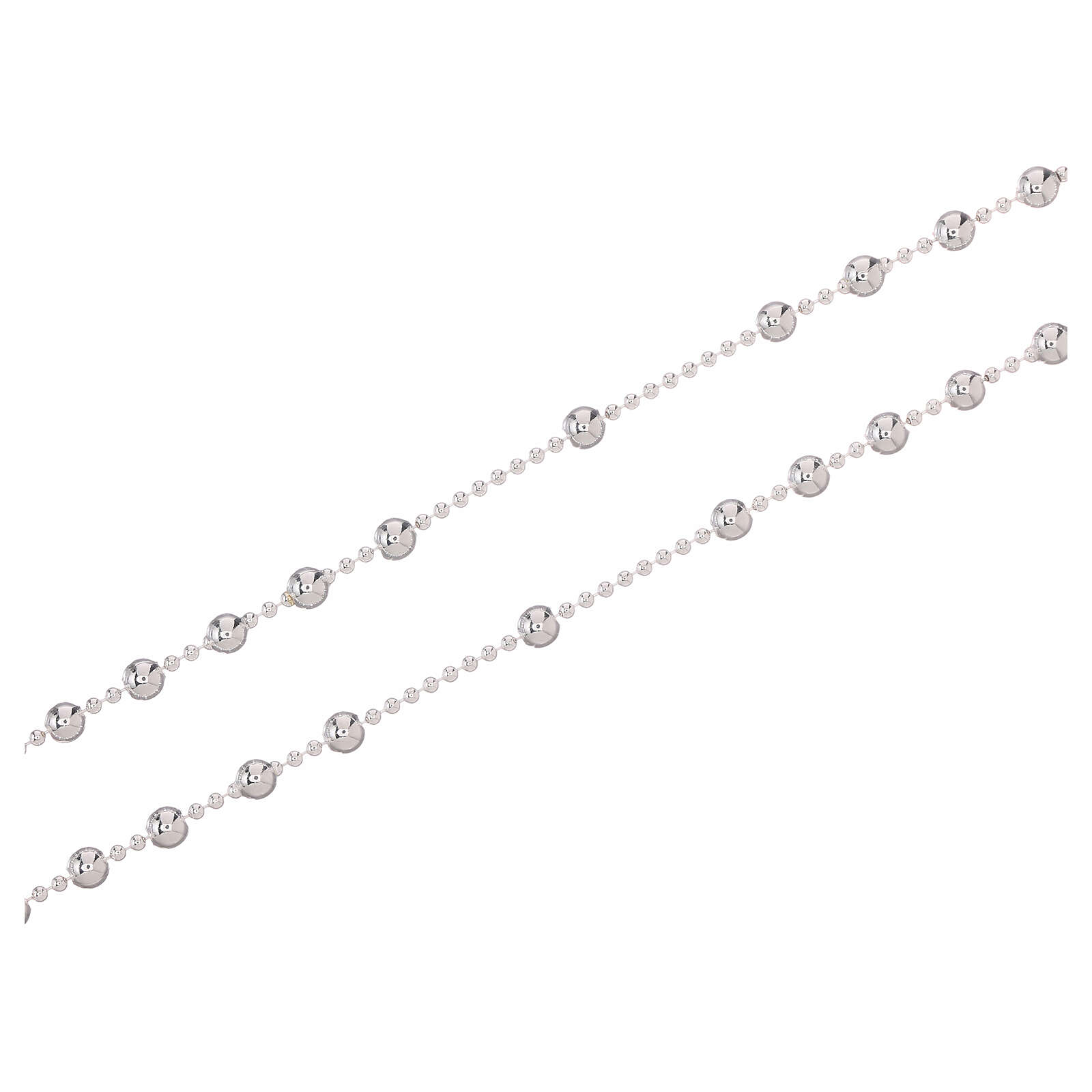 STOCK Rosario collar plata 925 granos 3 mm 4