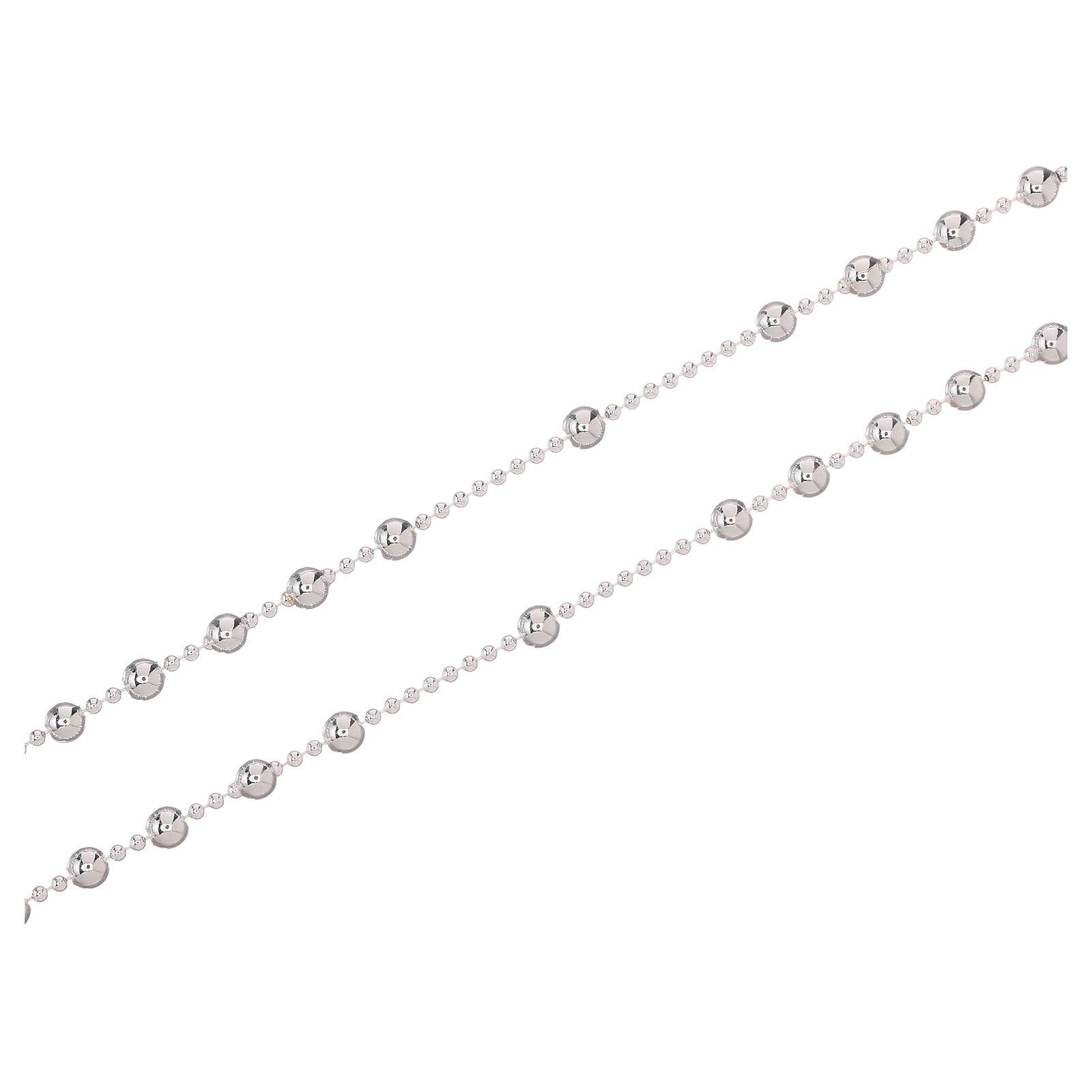 STOCK Rosario collana argento 925 grani 3 mm 4