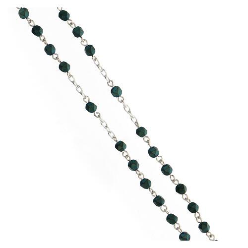 Rosario granos como piedras 4 mm hematites verde plata 925 3
