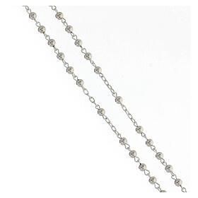 Rosario argento 925 grani lisci croce tubolare 11,2 g s3
