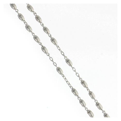 Rosario grani ovali argento 925 crocefisso 18,7 g 3