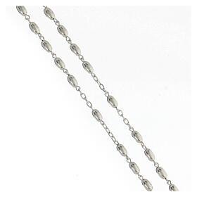 Terço contas ovais prata 925 e crucifixo, peso 18,7 gr s3