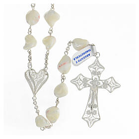Rosario plata 800 cruz filigrana perlas barrocas s2