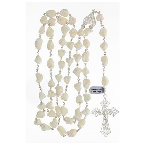 Rosario plata 800 cruz filigrana perlas barrocas 4