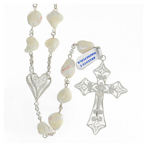 Rosario argento 800 croce filigrana perle barocche 2