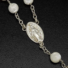 Mother of pearl rosary beads, round, 7mm s3