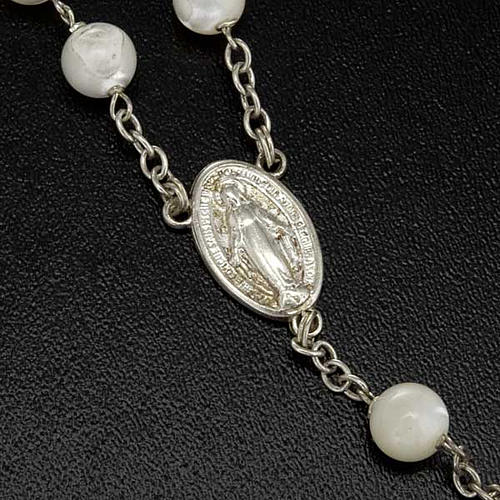 Mother of pearl rosary beads, round, 7mm 3