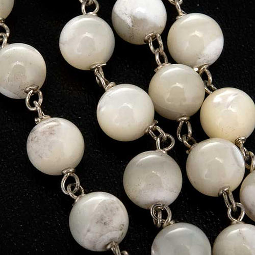Mother of pearl rosary beads, round, 7mm 5