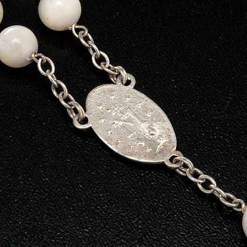 Mother of pearl rosary beads, round, 7mm 6