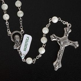 Rosary with mother of pearl bead, 6mm and Our Lady centerpiece s2