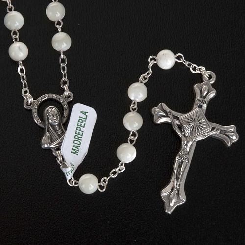 Rosario Madreperla medalla Virgen 5mm 2
