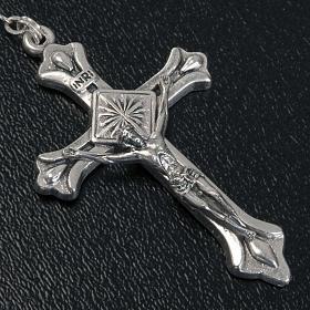 Chapelet nacre véritable médaille Notre Dame 6mm s4
