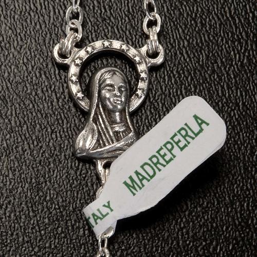 Chapelet nacre véritable médaille Notre Dame 6mm 5