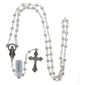 Mother-of-pearl rosary with round pearls 2 mm s4