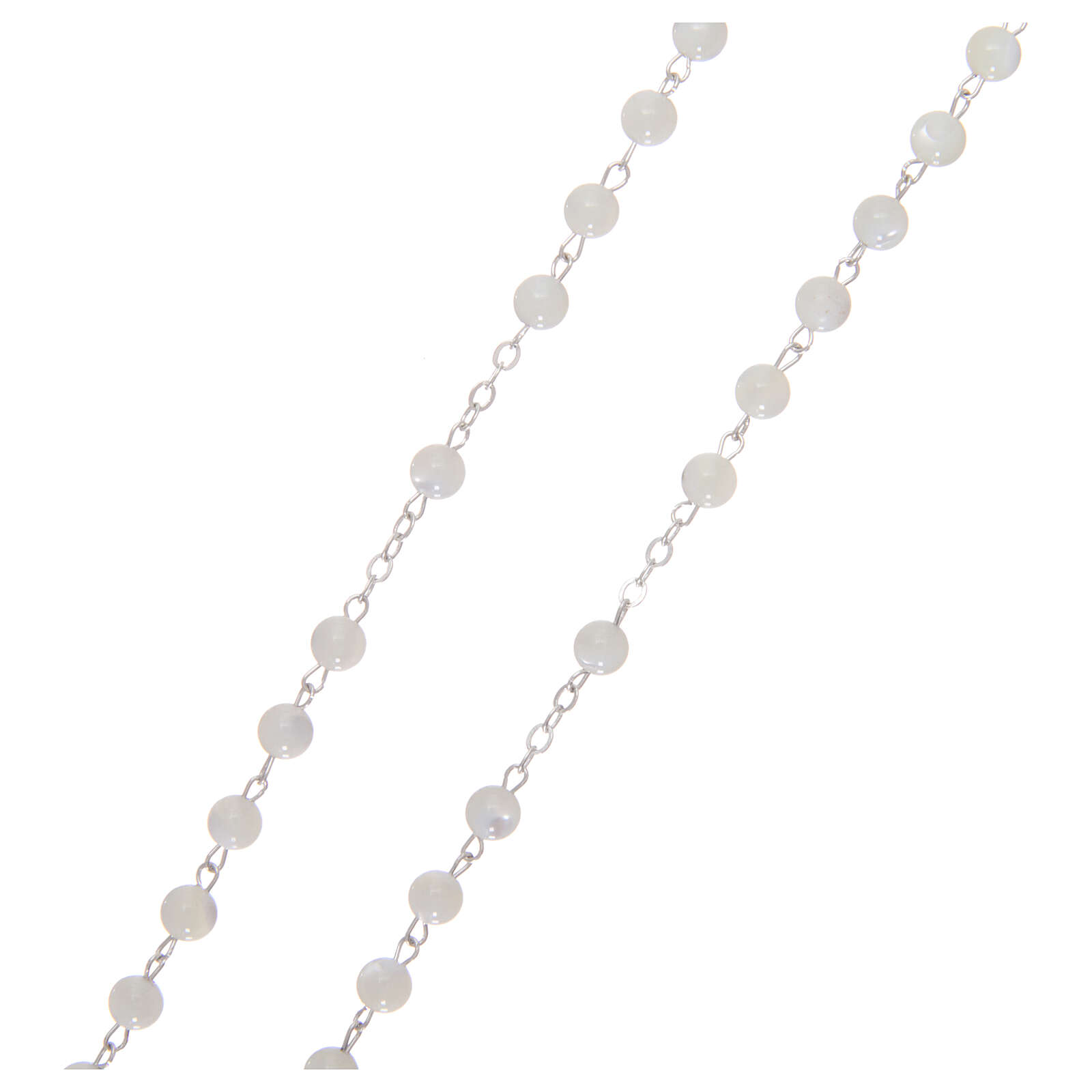 Mother-of-pearl rosary with round pearls 3 mm 4