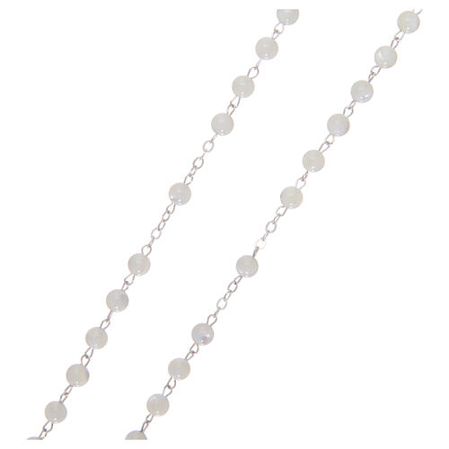 Mother-of-pearl rosary with round pearls 3 mm 3