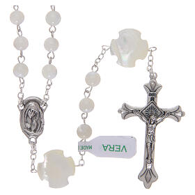 Mother-of-pearl rosary with round pearls of 3 mm s1