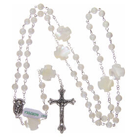 Mother-of-pearl rosary with round pearls of 3 mm s4