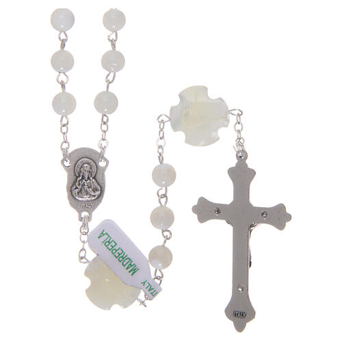 Mother-of-pearl rosary with round pearls of 3 mm 2