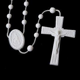 Preiswerter Rosenkranz aus Nylon in der Farbe Weiß 5 mm s2