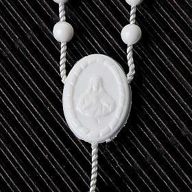 Preiswerter Rosenkranz aus Nylon in der Farbe Weiß 5 mm s4