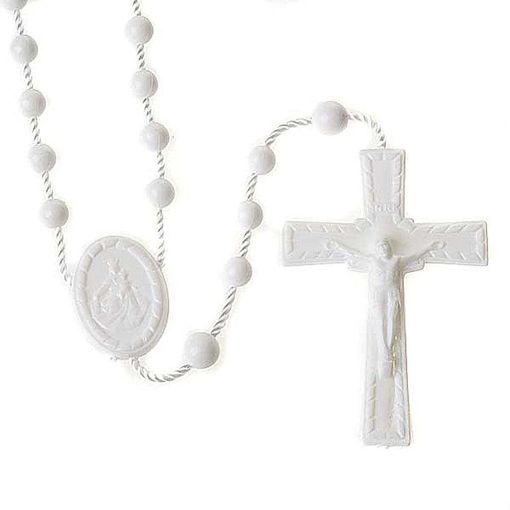 White nylon rosary 4