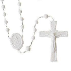White nylon rosary s1